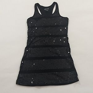 Wet Seal Black Sequined Mini Dress Sz XS Stretch